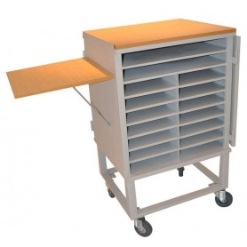 chariot mobile pour le rangement ordinateur portable. Black Bedroom Furniture Sets. Home Design Ideas