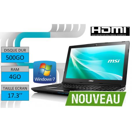Ordinateur portable 17 pouces Windows 7 32 bits