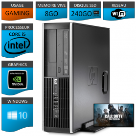 HP Elite 8100 Core i5 Tour Gaming 8Go 240SSD GEFORCE GT730 2Go