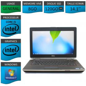 Portable Dell e6420 8Go 120SSD Intel Core i5 4 Coeurs Windows 7 Pro 64 bits HDMI