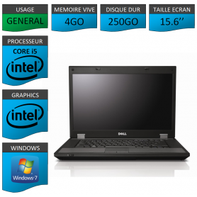 DELL Latitude e5510 4Go 250Go Windows 7 Pro Port Serie