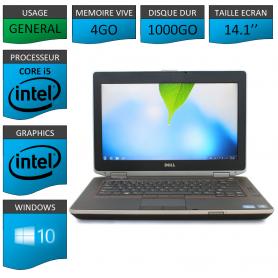 Portable Dell e6420 4Go 1000Go Intel Core i5 4 Coeurs Windows 10 Pro 64 bits HDMI