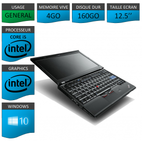 Lenovo X220 4Go 160Go Windows 10 Pro 64