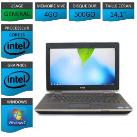 Portable Dell e6420 4Go 500Go Intel Core i5 4 Coeurs Windows 7 Pro 32 bits HDMI