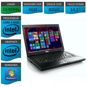 Portable Dell Intel Core 2 Duo 4Go Windows 7 Pro 32 bits