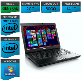 Portable Dell Intel Core 2 Duo Windows 7 Pro 32 bits