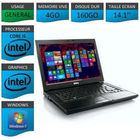 Portable Dell Intel Core i5 4 Coeurs 4Go Windows 7 Pro 32 bits