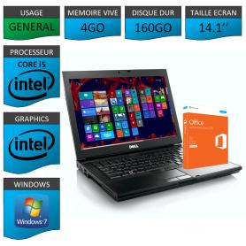 Portable Dell Intel Core i5 4 Coeurs 4Go OFFICE 2013 Windows 7 Pro 32 bits