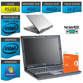 DELL LATITUDE PORT SERIE RS232 NATIF Windows 7 Pro 32Bits - 4Go 80Go Office Business