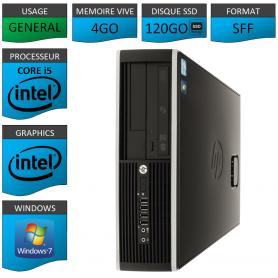 PC HP Core i5 4Go 120Go SSD Windows 7 Pro