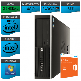 PC HP Core i5 4Go 240Go SSD OFFICE BUSINESS
