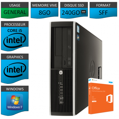 PC HP Core i5 8Go 240Go SSD OFFICE BUSINESS
