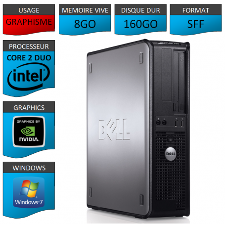 "PC DELL ""CYBORG"" 8GO MEMOIRE WINDOWS 7 PRO 64 bits HDMI"