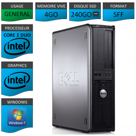 PROMO PC DELL 4GO 240SSD WINDOWS 7 PRO 64 bits