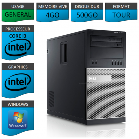 Dell Optiplex 790 Core i3 4go 500Go Windows 7 Pro
