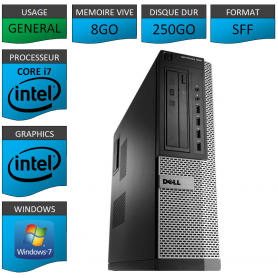 Dell Optiplex 990 Core i7 8go 250Go Windows 7 Pro