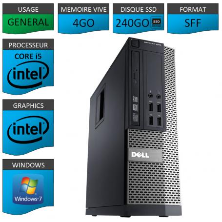 Dell 7010 Core i5 4Go 240SSD Windows 7 Pro