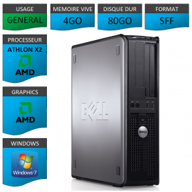 PC DELL OPTIPLEX 740 4Go WINDOWS 7 PRO 64