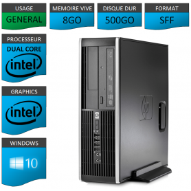 HP Elite 8300 8Go 500Go W10P
