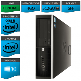 PC HP Core i5 4Go 512 Go SSD Windows 10 Pro