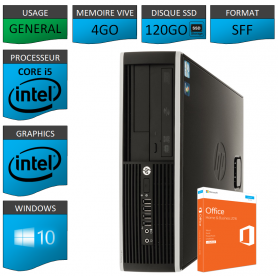 PC HP Core i5 4Go 120Go SSD OFFICE 2013 Windows 10 Pro