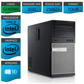 Dell Optiplex 990 TOUR 8Go 250Go Windows 10 Pro