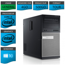 Dell Optiplex 790 Core i3 4go 500Go Windows 10