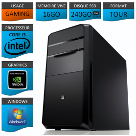 STATION GAMER INTEL COREi3 2100 16Go 240Go 3To