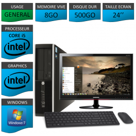 PC HP Elite Pro 8Go 500Go Ecran 24 CSF