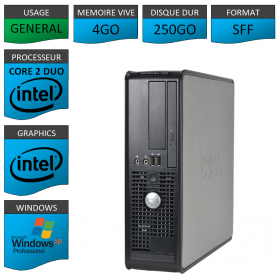 Dell Optiplex 755 4Go 250Go XP