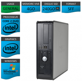 Dell Optiplex 4Go 240SSD XP