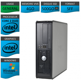 Dell Optiplex 755 4Go 500SSD XP