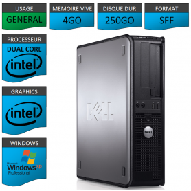 PC DELL 4GO 250GO WINDOWS XP PRO 32Bits