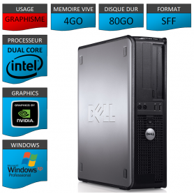 PC DELL 4GO 80GO GEFORCE WINDOWS XP PRO 32Bits