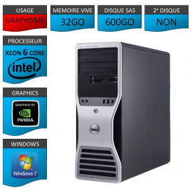 DELL PRECISION 32Go memoire Windows 7 Pro 64