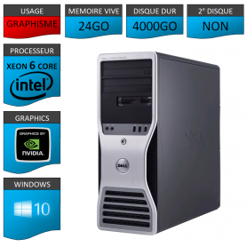 DELL PRECISION Xeon 6 Cores 24Go 4000Go Windows 10 Pro 64