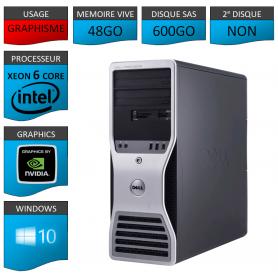 DELL PRECISION Xeon 6 Cores 48Go 600Go Windows 10 Pro 64 Quadro 2000