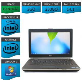 Lot 10 Portables Dell Intel Core i5 4 Coeurs 3Go Windows 7 Pro 64 bits