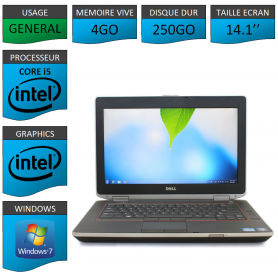 Lot 10 Portables Dell Intel Core i5 4 Coeurs 4Go Windows 7 Pro 64 bits