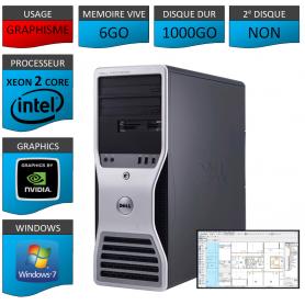 DELL PRECISION Xeon Dual Core 6Go 1000Go Windows 7 Pro 64
