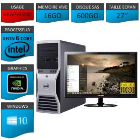 "DELL PRECISION Xeon 6 Cores 16Go Windows 10 Pro 64 Ecran 27"" IIYAMA"