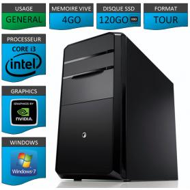 PC NEUF MSI Core i3 4Go 120Go SSD GeforceGT1Go