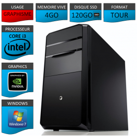 PC NEUF Core i3 4Go 120Go SSD Geforce 2Go
