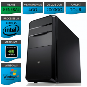 PC ECS COREi5 4GO 2000GO XP PRO Geforce 2Go