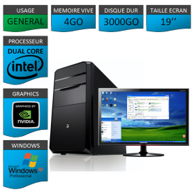 PC ideal Graphisme 3000GO XP PRO 19""