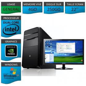 "PC ECS E5700 4Go 250GO XP PRO 22"""