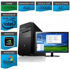 """PC ideal Graphisme 1000GO XP PRO 22"""""""