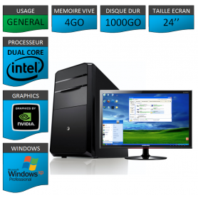 PC ideal Graphisme 1000GO XP PRO 24""