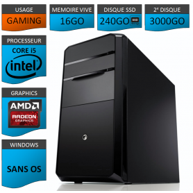 STATION GAMER INTEL COREi5 2500k 16Go 240Go 3To