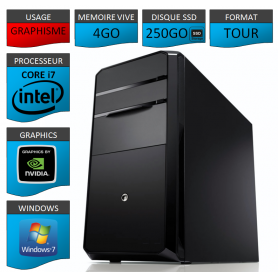 PC NEUF Core i7 4Go 250Go SSD Geforce 2Go Windows 7 32 bits